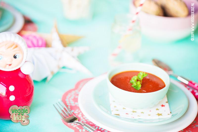 kerstdiner tomatensoep kinderen