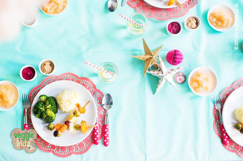 groente spiezen kerstdiner