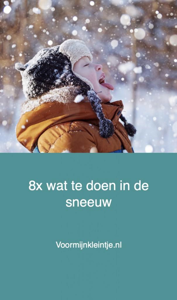 sneeuwpret kind