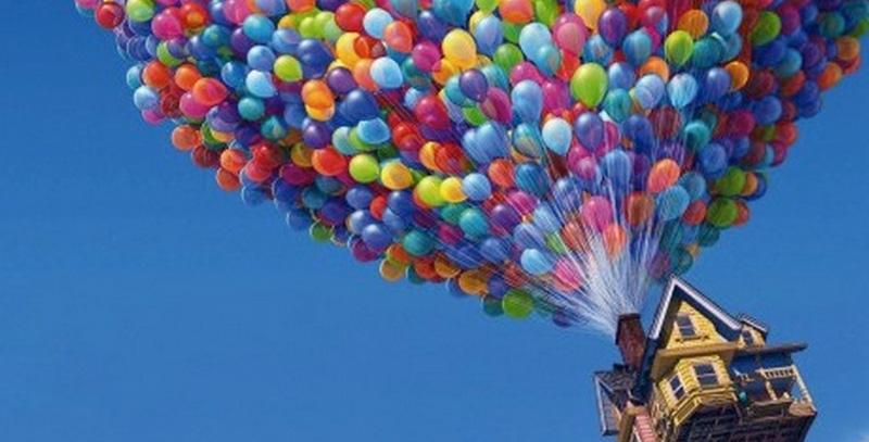 disney feitjes up ballonnen