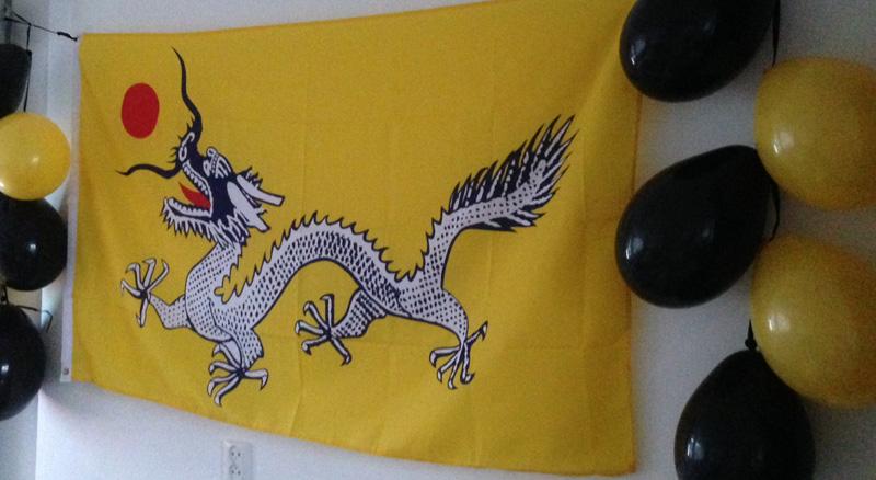 Ninjago feestje chinese vlag