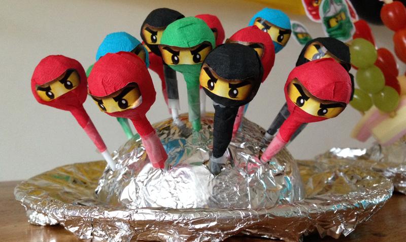 ninja lollys Ninjago feestje