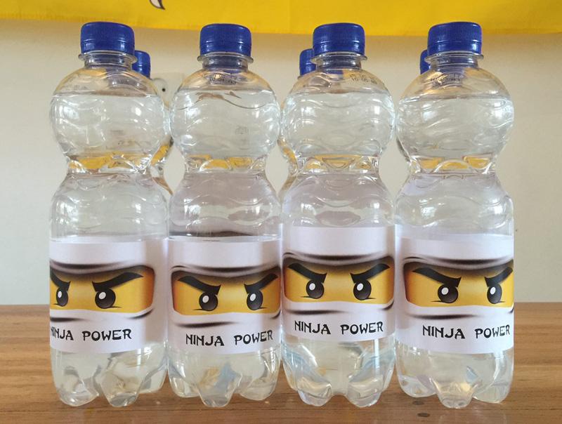 ninja power flesjes Ninjago feestje