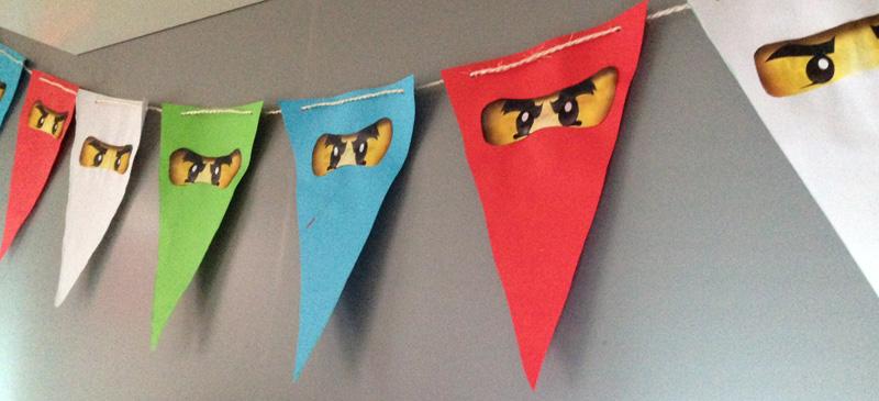 Ninjago feestje vlaggen