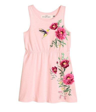 Tricot zomerjurkje met bloemenprint - H&M € 4,99
