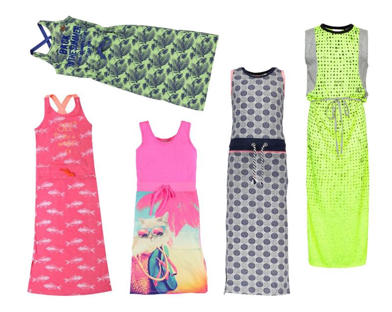 kleurrijke maxi jurk meisjes