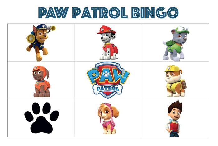 PAW Patrol feestje bingo