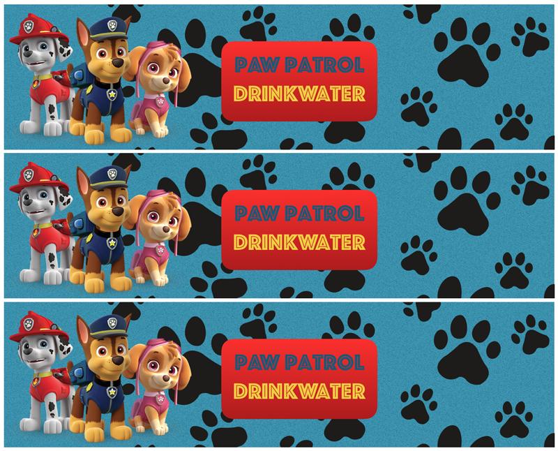 PAW Patrol feestje waterflesjes