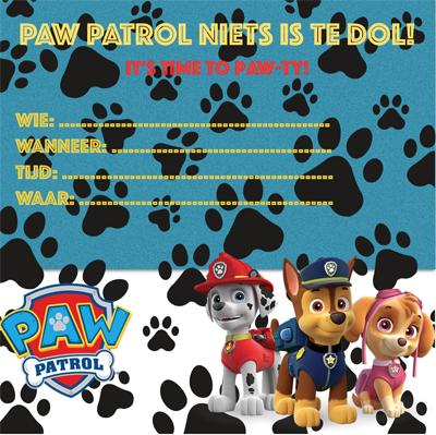 PAW Patrol feestje uitnodiging