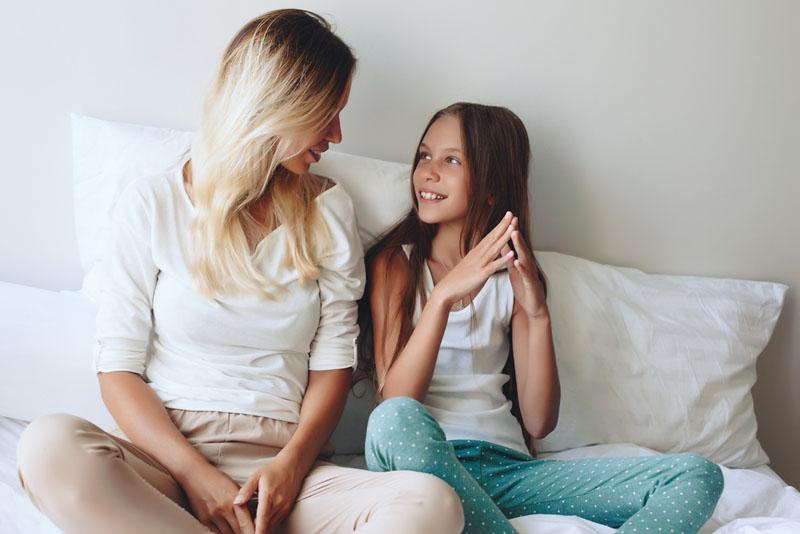 gesprek moeder dochter