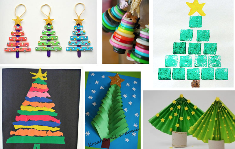 Kerst knutselen for Mini kerstboom action