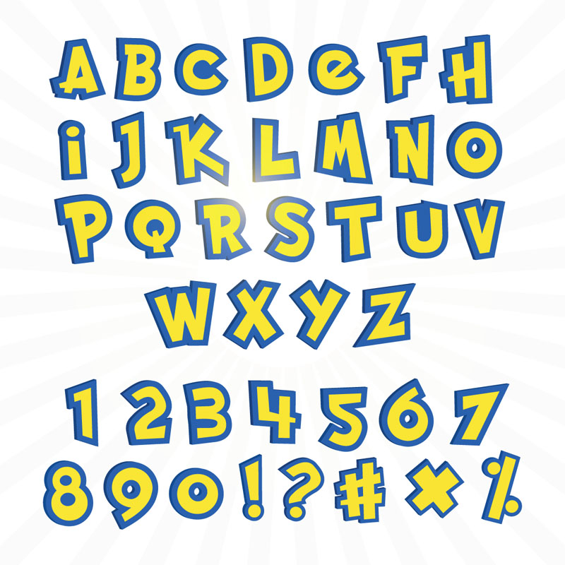 pokemon feestje lettertype