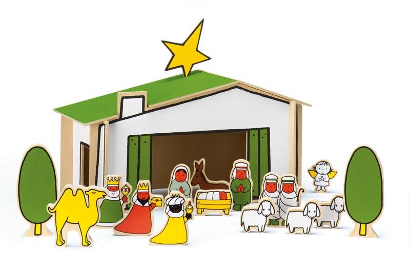 Afbeeldingsresultaat voor kerststalletje hout
