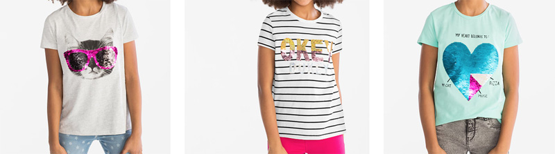 omkeerbare pailletten t-shirt