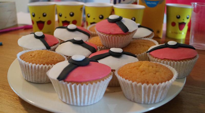 Pokemon feestje cakejes