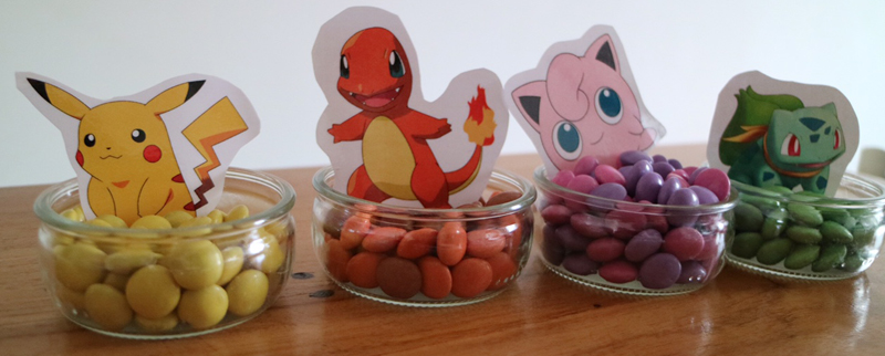 Pokemon feestje smarties