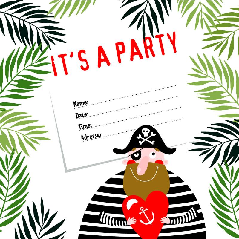 piratenfeestje uitnodiging zelf maken