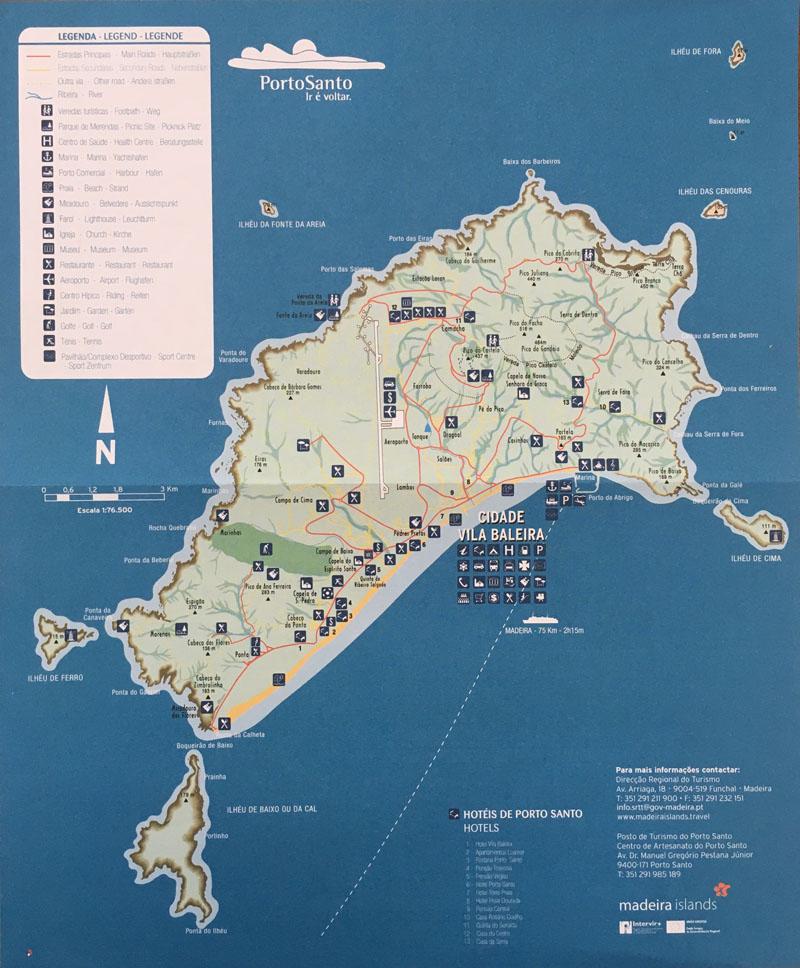 kaart van Porto Santo