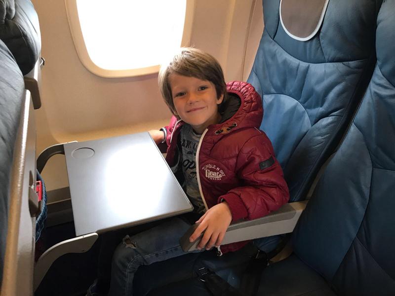 in vliegtuig eelde kopenhagen