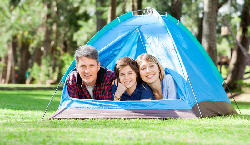 kamperen gezin