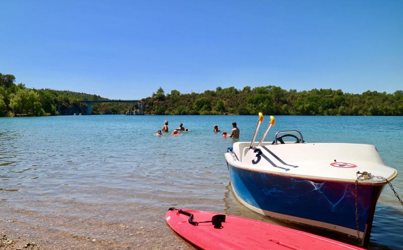 Lac d'Artignosc met aan de overkant een springrots