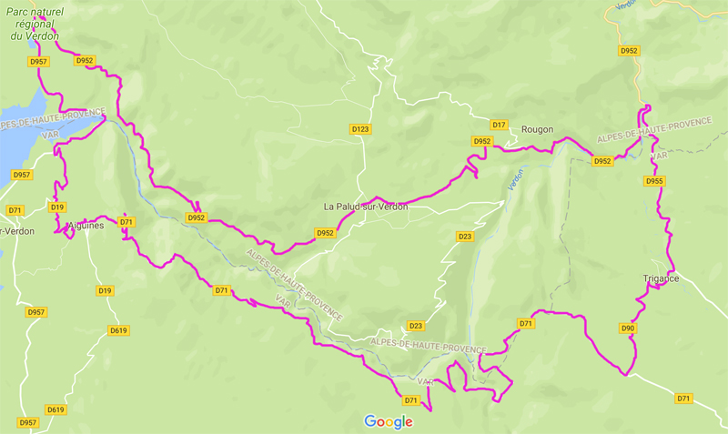route verdon maps google