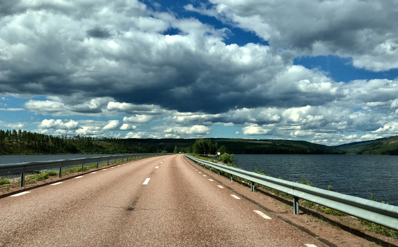 weg in Zweden