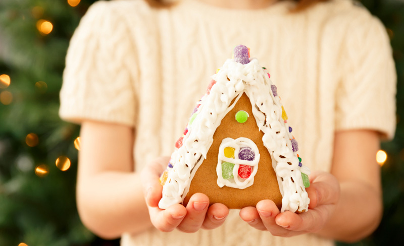 kerstdiner school huisje