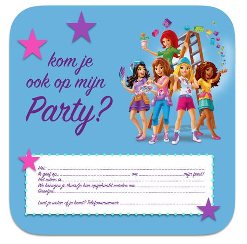 lego friends partijtje uitnodiging