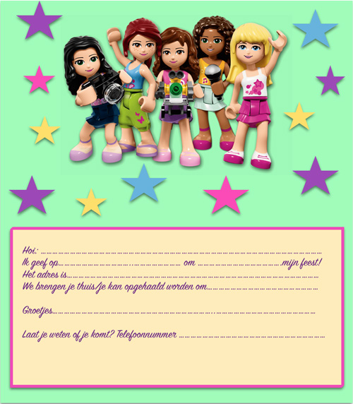 lego friends uitnodiging