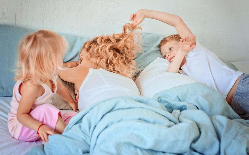 wakker worden moeder