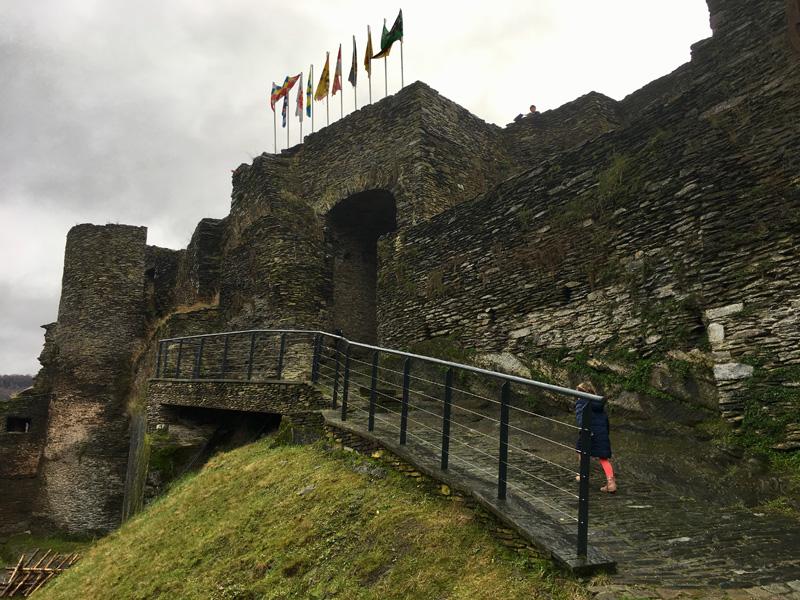 het feodaal kasteel La Roche-en-Ardenne