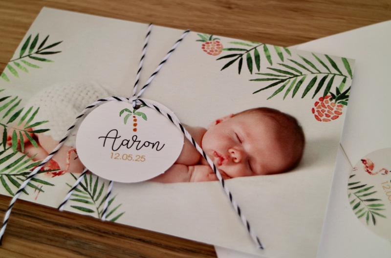 tropical-geboortekaartje-trend