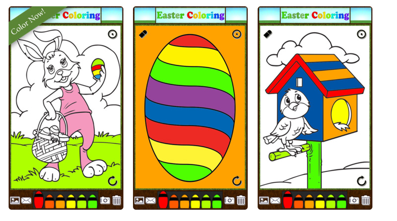 Easter Bunny Eggs Coloring