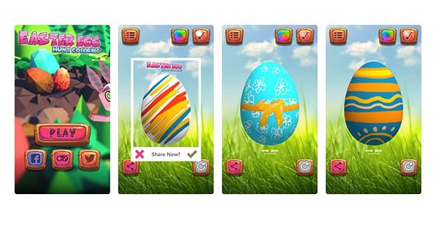 Easter Egg Hunt Colouring