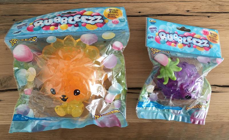 Bubbleezz squishies verpakking