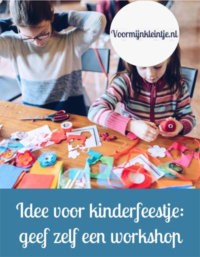 kinderfeestje workshop thuis
