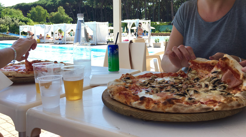 pizza rome camping