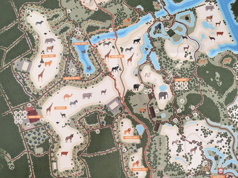 plattegrond safariresort beekse bergen