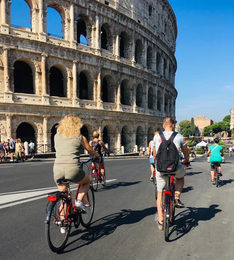 fietsen colosseum rome