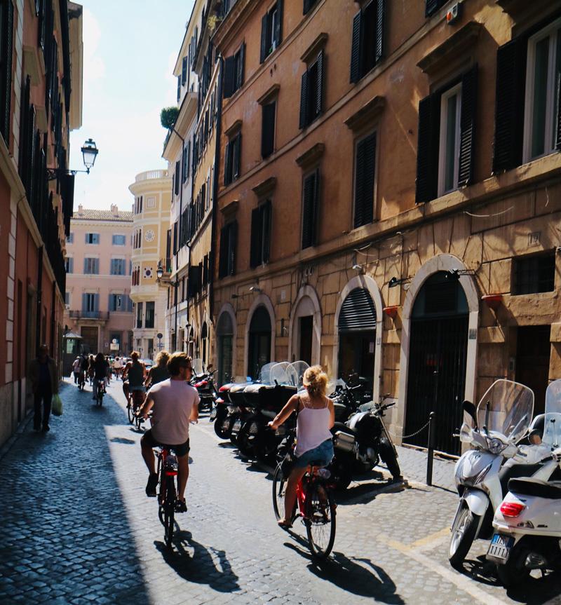 fietsen door rome
