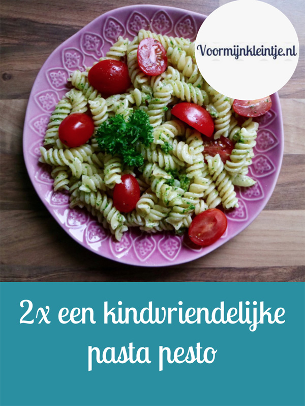 2x een kindvriendelijke pasta pesto