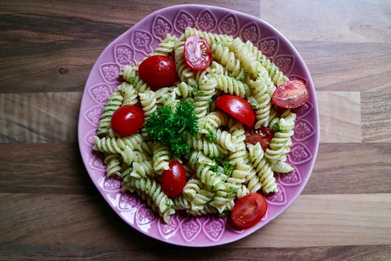 kindvriendelijke pasta pesto