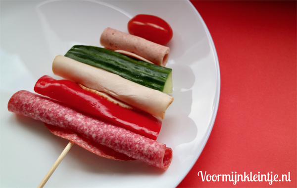 kersthapje vleeswaren