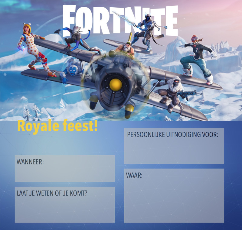 FORTNITE uitnodiging