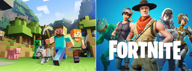 minecraft vs fortnite feestje