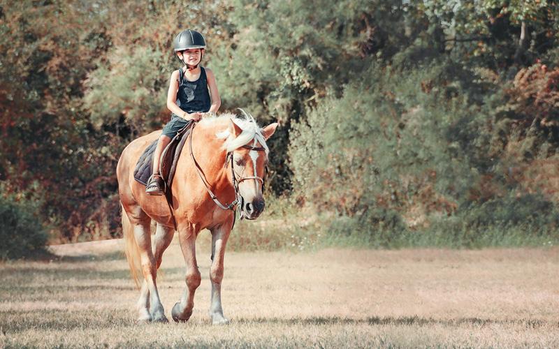 eerste keer paardrijden