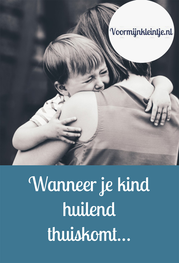 zoon huilend thuis