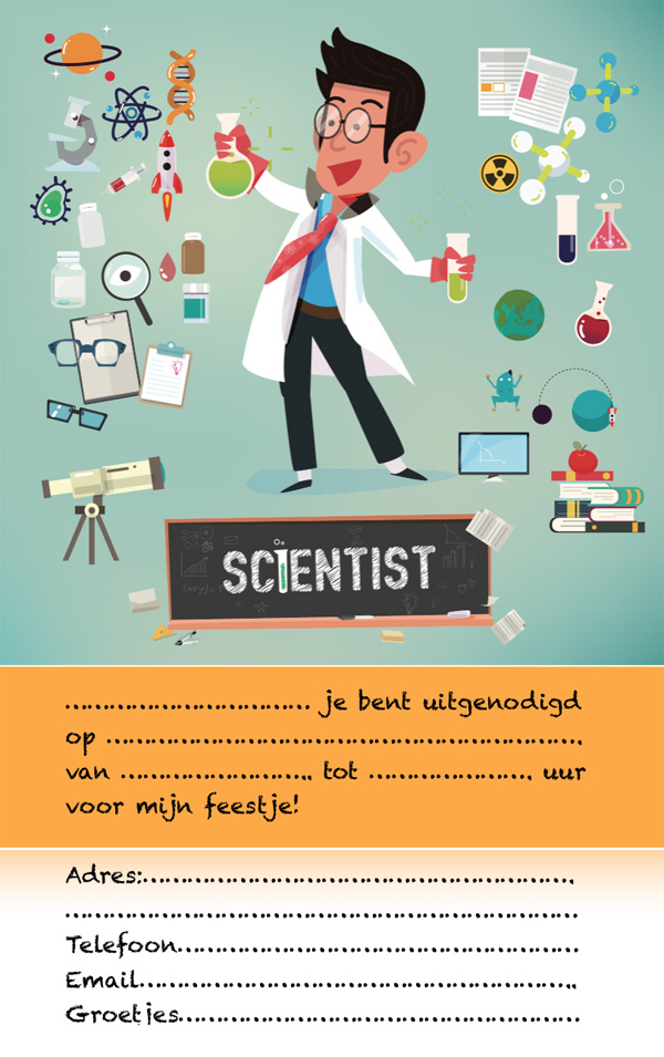 uitnodiging mad science