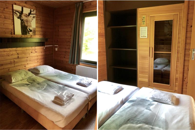 slaapkamer bungalow dierenbos